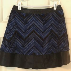 Candie's Black and Blue chevron skirt - Juniors